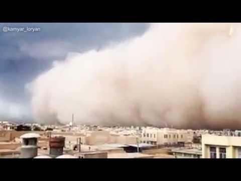 סופת חול באיראן   כן יאבדו כל אוייביך השם