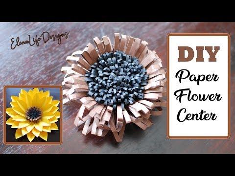 DIY Paper Flower Center Tutorial - How to make paper flower center  - Paper Crafts