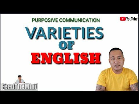 VARIETIES OF ENGLISH |FeedTheMind TV
