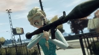 GTA IV : Queen Elsa of Arendelle (Frozen) EXAM Situation!!!