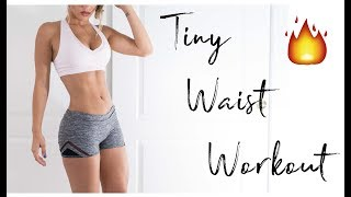 INTENSE Small Waist Workout | CLICK THIS TO FACETIME ME! + IG Giveaway