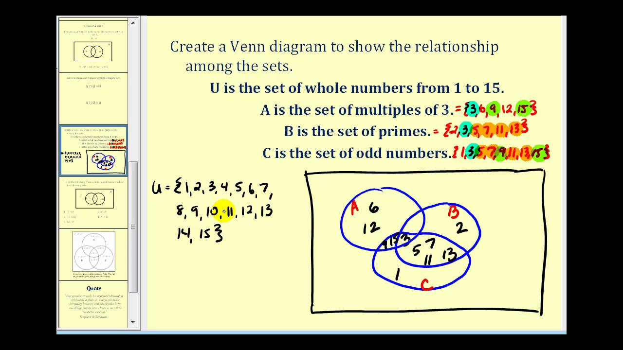Set operations and venn diagrams part 2 of 2 youtube set operations and venn diagrams part 2 of 2 ccuart Image collections