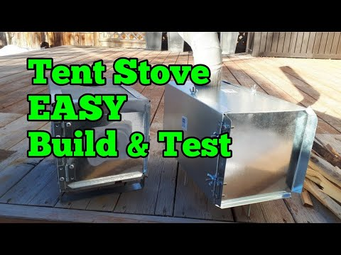 21. Takedown Tent Stove DIY Build and Test.