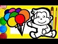 how to draw a monkey | Curios George | drawing for kids step by step