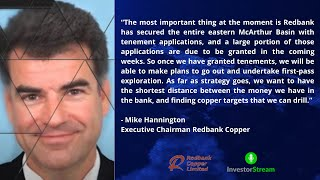 Investor Stream chats with: Redbank Copper's Bruce Hooper and Mike Hannington (March 8, 2021)