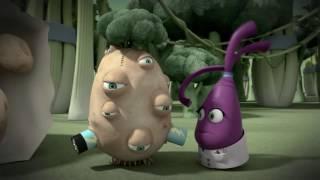 Прикольный мультик «Овощная вечеринка» - Картофельный эксперимент  (101 серия)