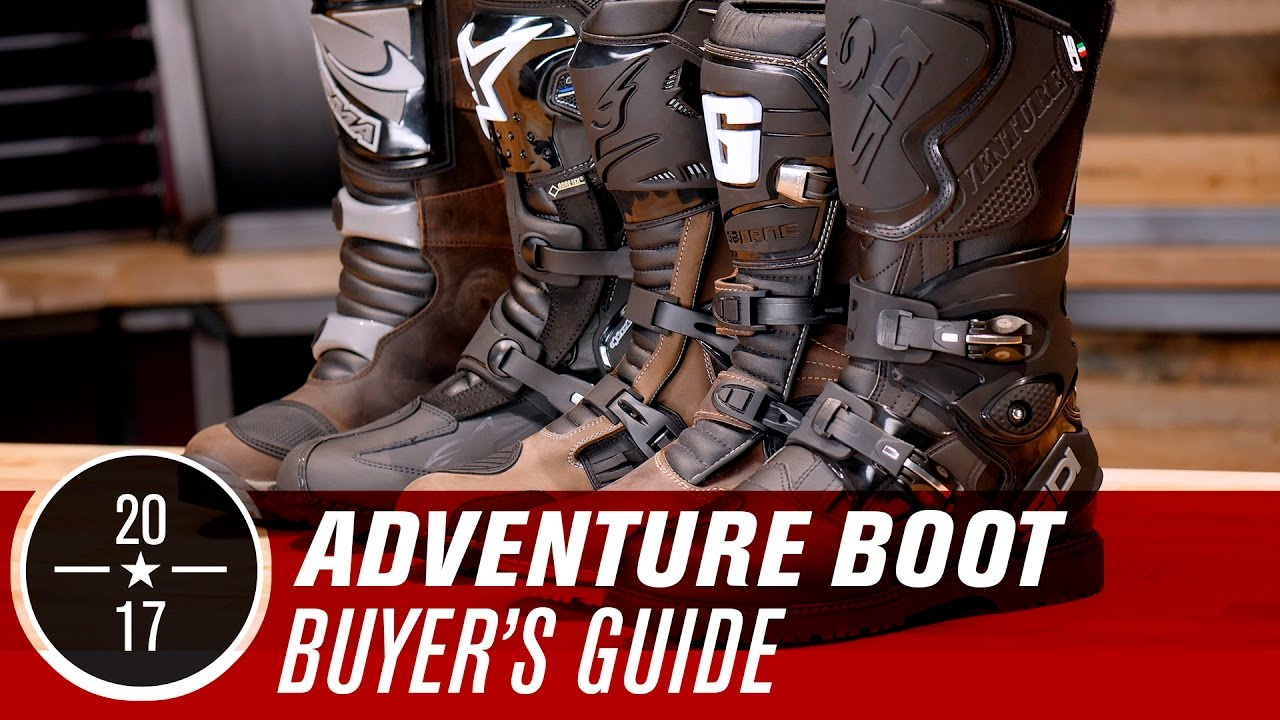 Best ADV/Dual Sport Motorcycle Boots | 2017 - YouTube