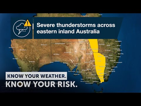 Severe Weather Update: Severe Thunderstorms Eastern Inland Australia, 21 Sept 2020