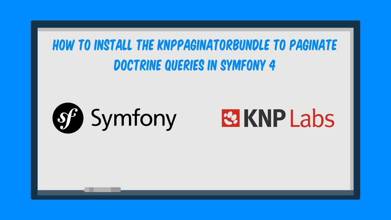 How to install the KnpPaginatorBundle to paginate Doctrine