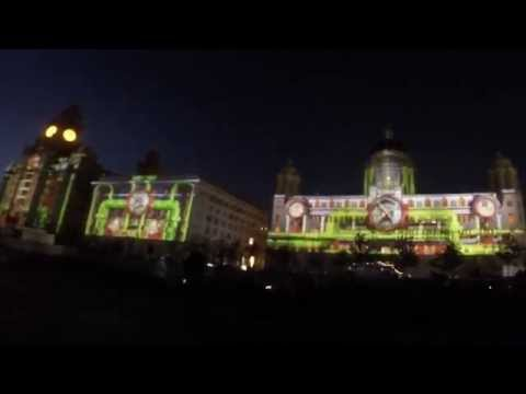 Amazing Graces - Liverpool Projection Mapping - Three Queens Event