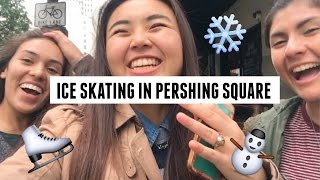 Ice Skating, The Last Bookstore, and Walt Disney Concert Hall | kathleenngo