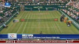 Federer Kicks Off Grass Court Season With Win