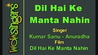Dil Hai Ke Manta Nahin - Hindi Karaoke - Wow Singers
