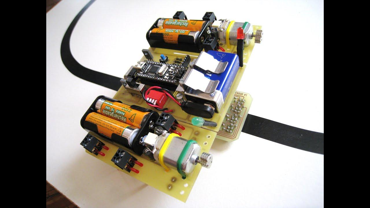 Robot suiveur de ligne à base d arduino quot tt bristlebot