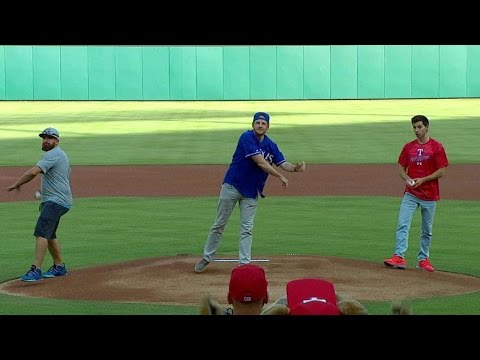 Thumbnail: Dude Perfect's first pitch, trick shot ideas