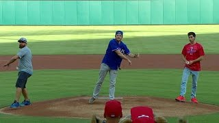 Dude Perfect's first pitch, trick shot ideas
