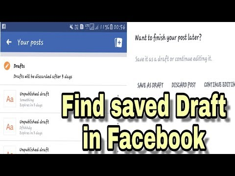 How To Find Facebook Draft folder in android YouTube