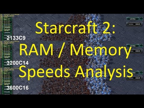 Starcraft 2: RAM speed test - 2133 vs 3200 vs 3600 | i7 7700k & GTX 1080 Ti  OC