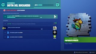 CHALLENGES BOTIN DEL BUCANERO (DAY 2) - LOOK FOR THE BURIED TREASURE (0/1) FORTNITE