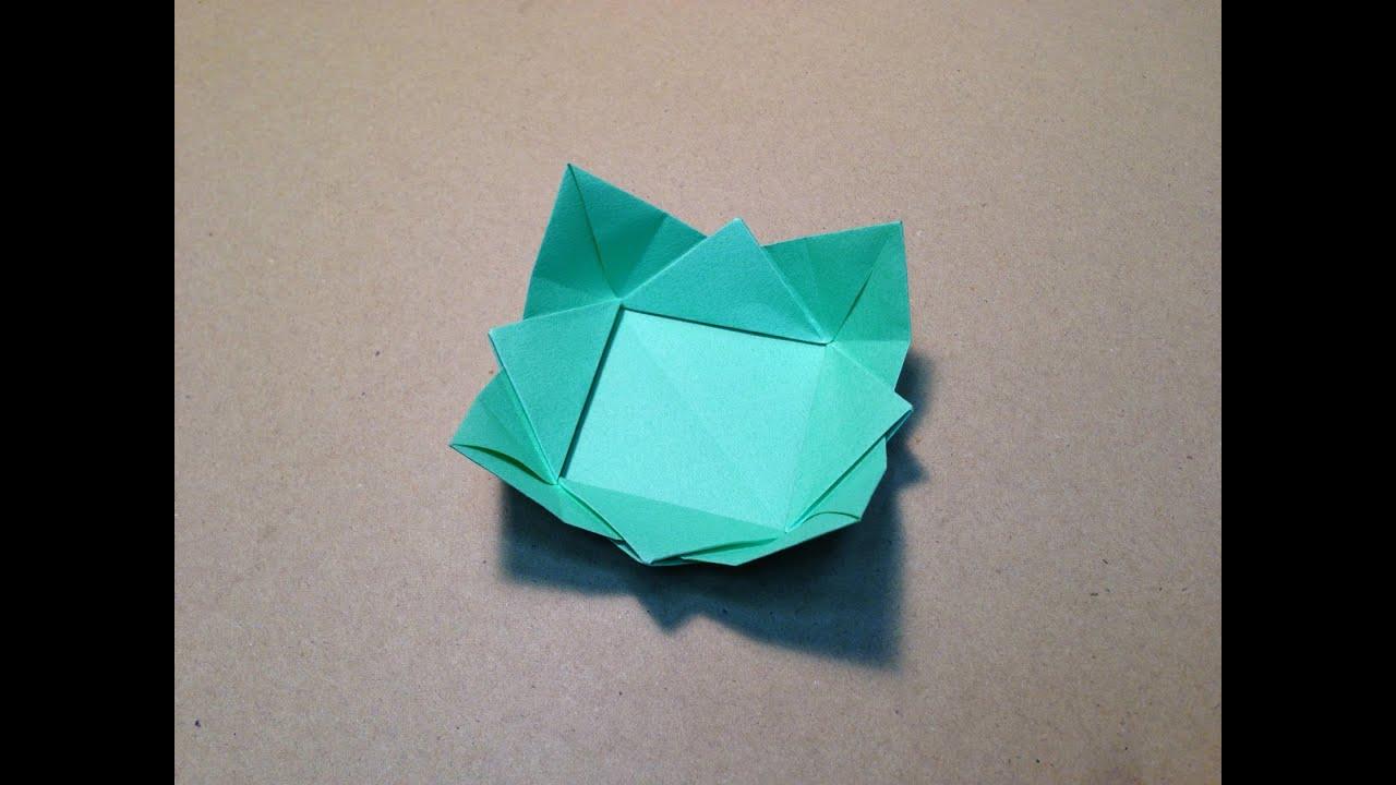 origami dish instructions youtube