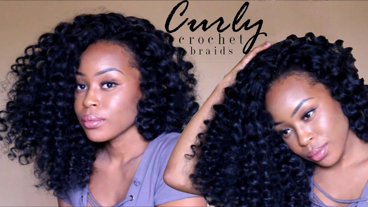 Big Curly Crochet Braids No Flexi Perm Rods Carribbean
