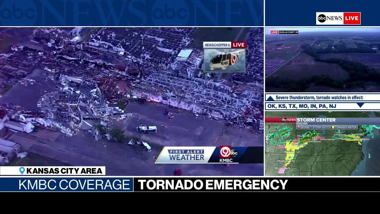 Breaking News: LIVE Tornado emergency near Kansas City | KMBC-TV coverage