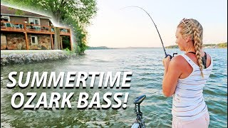 CRUSHING Summer Bass by MANSIONS on Lake Of the OZARKS!