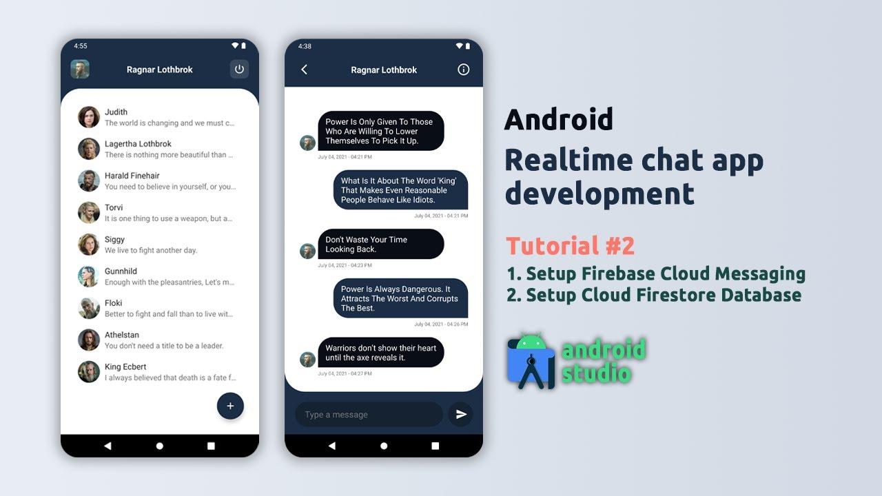 Android Chat App Development - Setup Firebase Cloud Messaging & Firestore Database - #2
