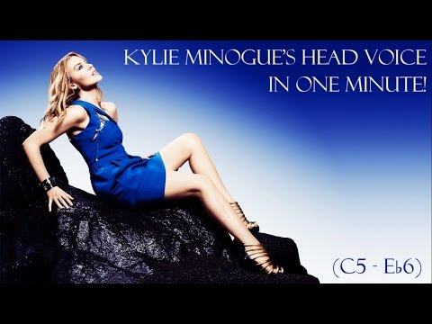 Kylie Minogue's Head Voice In One Minute! (C5 - E♭6)