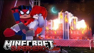 Spiderman & Thor Fire Emergency - Is she coming or what?!?  Episode 2 (minecraft Roleplay)