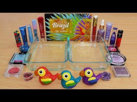Red vs Blue vs Purple - Mixing Makeup Eyeshadow Into Slime Special Series 234 Satisfying Slime Video