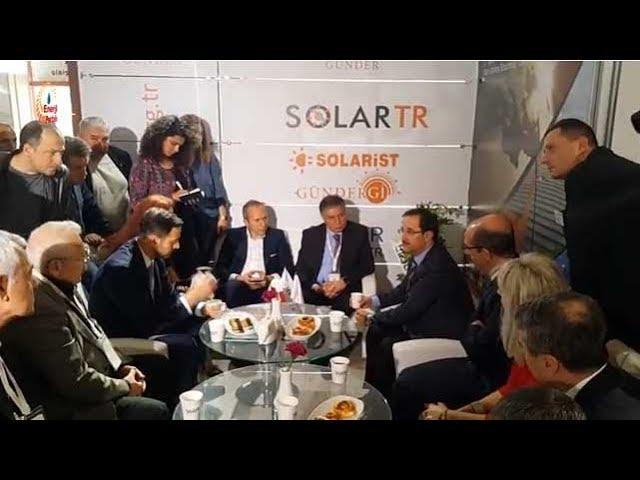 Yenilenebilir Enerji GM Dr.Oğuz Can, SOLAREX İstanbul 2018'de İstişarelerde bulundu