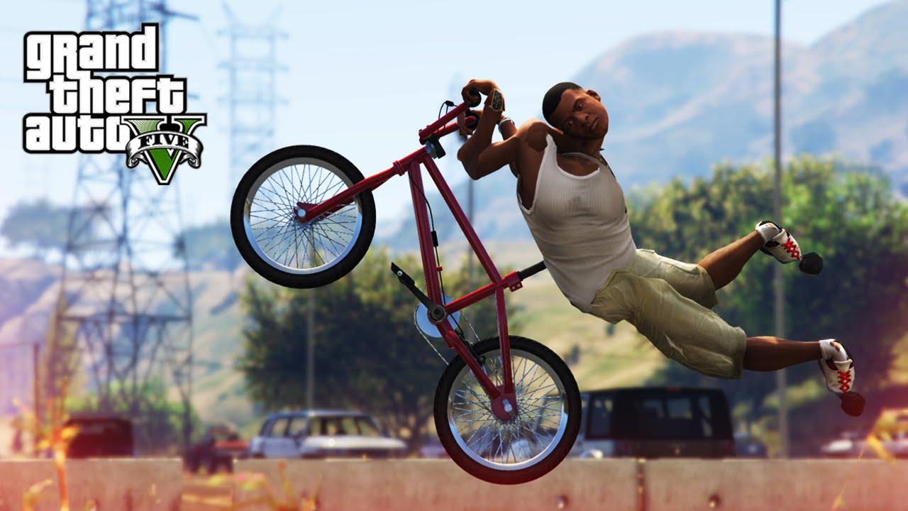 AWESOME BMX STUNT! - (GTA V Stunts & Fails) - YouTube