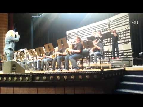 The Canon City Middle School Jazz Band performs at Florence High School during the Blossom Festival