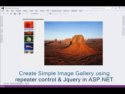 How to Create Simple Image Gallery using repeater control & Jquery in  ASP NET