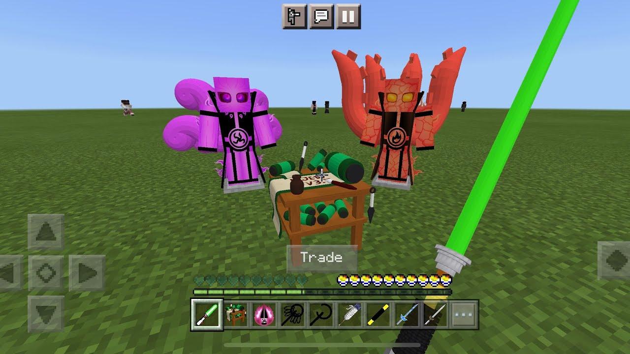 Naruto Jedy MOD in Minecraft PE YouTube