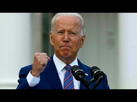 """Joe Biden : les États-Unis """"plus proches que jamais de proclamer l'indépendance"""" face au Covid-19"""