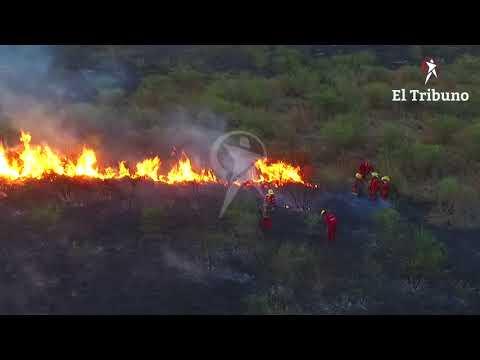 Incendio de gran magnitud en los campos del Ejército