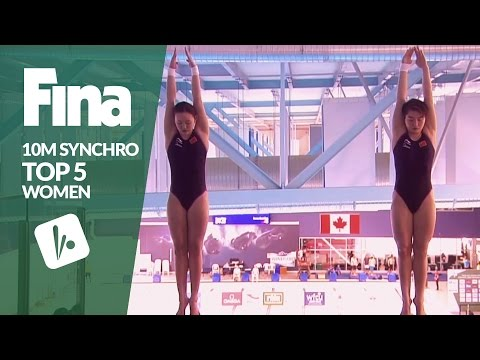 Top 5 - Women's 10m Synchronised | FINA/NVC Diving World Series - Windsor 2017