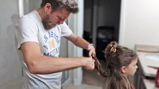 Dad Cuts Daughters Hair