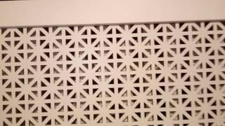 видео Декоративный экран на батарею отопления
