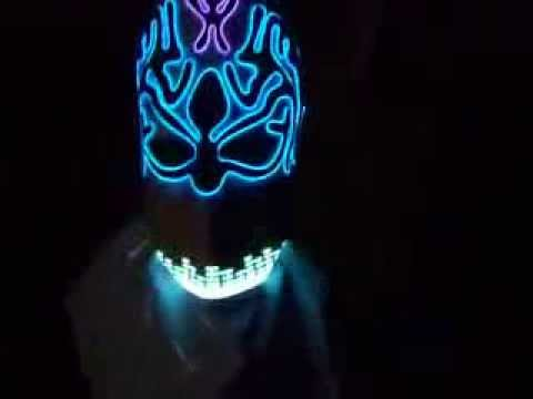 Equalizer and EL wire mask - YouTube