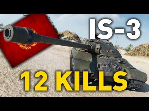 World of Tanks || IS-3 - 1 vs 6 - 12 KILLS...