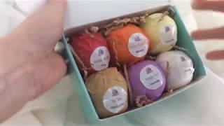 ORGANIC AT-HOME SPA NIGHT: Handmade, Organic Bath Bombs GIFT SET by Bombozi
