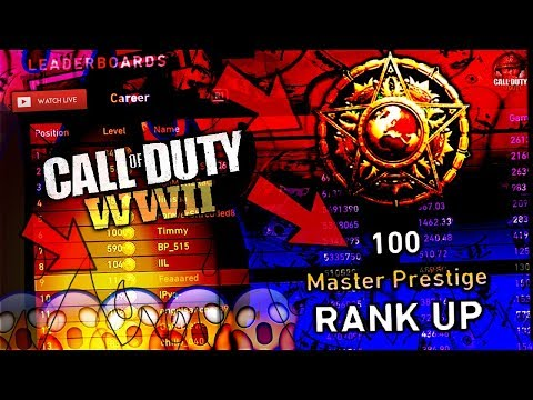 #1 IN EUROPE! (#5 ALL TIME) COD: WW2 PRESTIGE MASTER LEVEL 140+ LEADERBOARD GRIND!