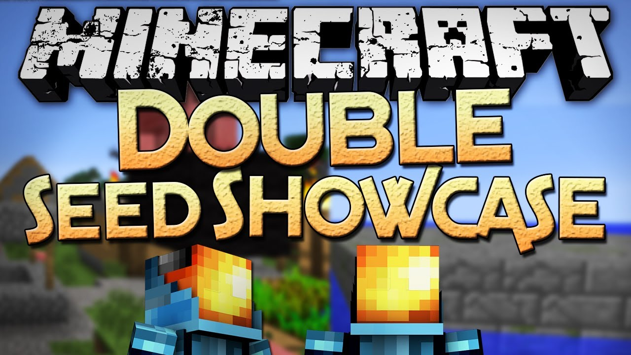 Minecraft: 1 4 Seeds - Double Seed Showcase - Smallest Stronghold EVER