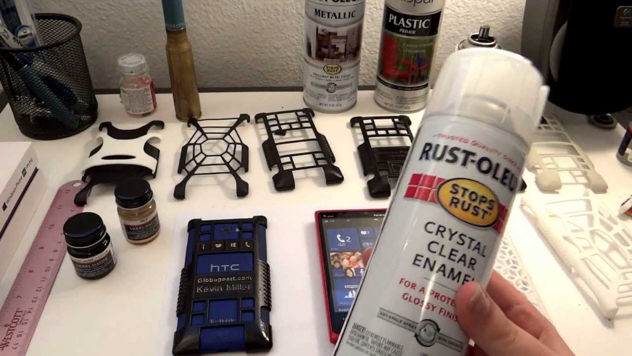 Painting Your 3d Printed Cell Phone Cases Youtube