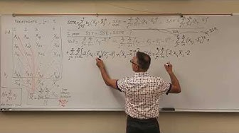 ANOVA COMPREHENSIVE PROOF SST = SSTR + SSE FIRST TIME ON THE YTUBE AND INTERNET by Dmitry Leiderman