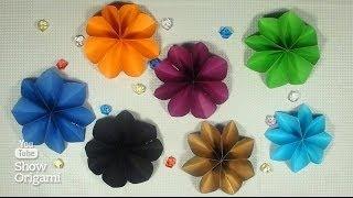 Как легко сделать цветок с помощью степлера и ножниц