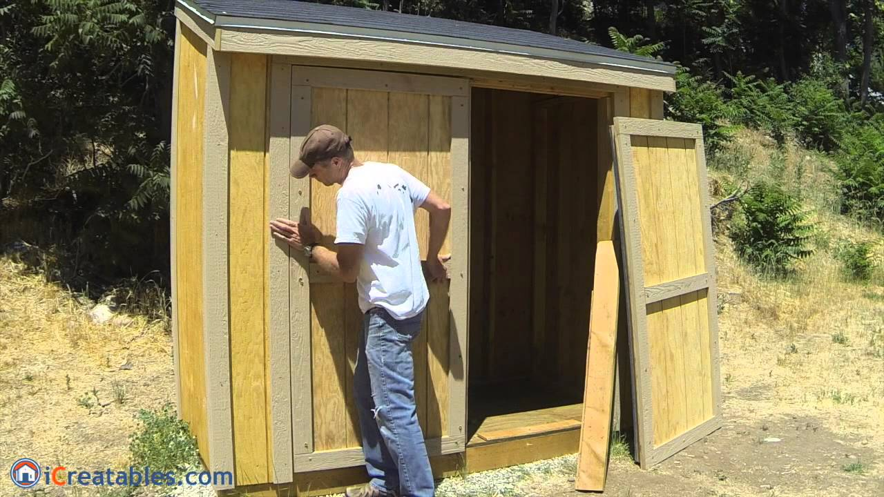 & How To Build A Lean To Shed - Part 8 - Double Door Build - YouTube